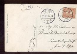 Groningen Zwolle D Grootrond - Putten 1 Langebalk - 1913 - Poststempel