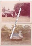 AUTO-VOITURE-FORD-FAIRLANE-2 ORIGINAL COLORED PHOTOS-ANNEES '60-BELGIQUE-SAINT-TROND-DIMENSIONS+-9-12.5 CM-VOYEZ 2 SCANS - Automobile