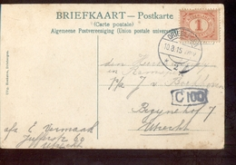 Driebergen 2 Langebalk - 1915 - Poststempels/ Marcofilie