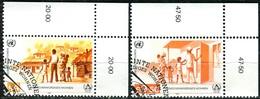 A10-29-4) UNO Wien - Mi 69 / 70 ECKEN REO - ** Postfrisch (A) - 4-9,50s       Menschenwürdiges Wohnen - Centre International De Vienne