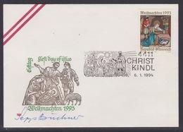 Christkindl Weihnachten Sonderstempel 6.1.1994 - FDC