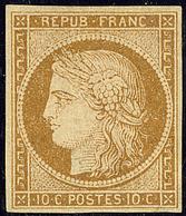 * No 1, Bistre Jaune, Très Frais. - TB. - R - 1849-1850 Cérès