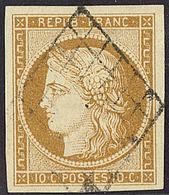 No 1, Obl Grille, Superbe - 1849-1850 Cérès