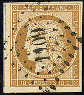 No 1, Trois Voisins, Nuance Foncée, Obl Pc 1109, Jolie Pièce. - TB - 1849-1850 Cérès