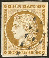 No 1, Obl Gros Points. - TB - 1849-1850 Cérès