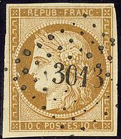 No 1, Obl Pc 3013. - TB - 1849-1850 Cérès