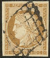 No 1, Obl Grille. - TB - 1849-1850 Cérès