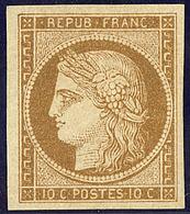 * No 1a, Bistre-brun, Très Frais. - TB. - R - 1849-1850 Cérès
