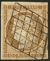 No 1a, Obl Grille. - TB - 1849-1850 Cérès