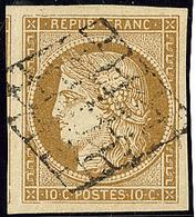 No 1b, Bistre Verdâtre, Un Voisin, Superbe. - R - 1849-1850 Cérès