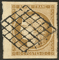 No 1b, Bdf, Obl Grille, Superbe - 1849-1850 Cérès