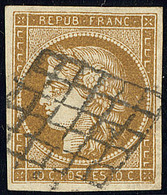 No 1c, Nuance Très Foncée, Jolie Pièce. - TB - 1849-1850 Cérès