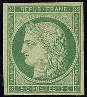 * No 2, Vert, Vert, Jolie Pièce. - TB. - RR - 1849-1850 Cérès