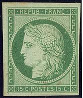 (*) No 2, Nuance Foncée, Petit Clair Dû à Une Paille Du Papier Qui A Sauté Mais Superbe D'aspect. - R - 1849-1850 Cérès