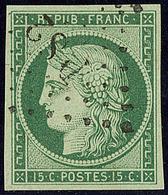 """No 2, Nuance Foncée, Obl Losange """"DS 2"""", Superbe. - R - 1849-1850 Cérès"""