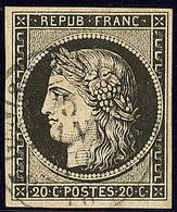 Oblitérations. 5 Janvier 1849. Cad 15 Sur N°3. - TB - 1849-1850 Cérès