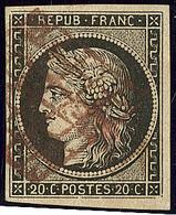 Oblitérations. Grille Rouge Sur N°3. - TB - 1849-1850 Cérès