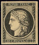 ** No 3, Noir, Jolie Pièce. - TB. - R - 1849-1850 Cérès