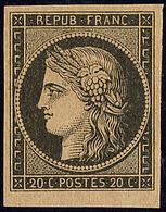 * No 3b, Noir Sur Chamois, Petit Bdf, Quasiment **, Très Frais. - TB - 1849-1850 Cérès