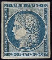 * No 4, Bleu, Nuance Foncée, Très Frais. - TB. - RR - 1849-1850 Cérès