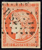 """No 5, Nuance Foncée, Obl Losange """"DS 2"""". - TB - 1849-1850 Cérès"""