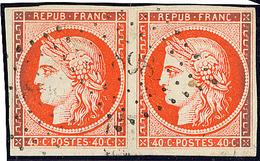 No 5a, Paire Obl Pc 898, Oxydation Sur Les Bords Sinon TB - 1849-1850 Cérès