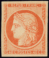 * No 5A, Orange Foncé Gomme Brunâtre (essai De Gommage), Très Frais. - TB. - R - 1849-1850 Cérès