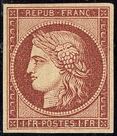 * No 6, Carmin, Superbe. - RR - 1849-1850 Cérès