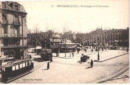 FR66 PERPIGNAN - Fau 82 - Place Arago Et Palmarium - Tramways - Droguerie Moderne DUMAYNE - Animée - Belle - Perpignan