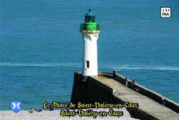 Set 6 Cartes Postales, Phares, Lighthouses Of Europe, France, Saint-Valéry-en-Caux, Le Phare De Saint-Valéry-en-Caux - Vuurtorens