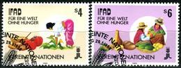 UNO Wien - Mi 79 / 80 - OO Gestempelt (C) - 4-6s       Landwirtschaftliche Entwicklung - Centre International De Vienne