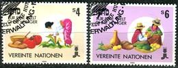 UNO Wien - Mi 79 / 80 - OO Gestempelt (E) - 4-6s       Landwirtschaftliche Entwicklung - Centre International De Vienne