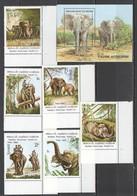 E230 1982,1995 LAO BENIN ANIMALS ELEPHANTS 1SET+1BL MNH - Elephants