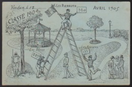 CPA - (Militaria) Verdun - Les Bleus - Les Pierrots - Les Anciens (cachet Gare De Verdun 1905) - Militares