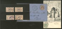 Nos 4 Sur Enveloppe De Trebizonde, 13 Sur CP, 20 (3), Rouad 14. - TB - Levant (1885-1946)