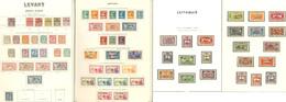 * Collection. 1885-1943 (Poste, PA, BF), Valeurs Moyennes Et Séries Complètes, + Lattaquié. - TB - Levant (1885-1946)