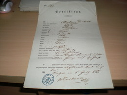 Certificat Passport  Kulpin Makarija Drakulic 1860 - Documents Historiques