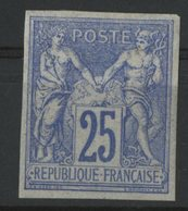 N°36 Cote 66 € COLONIES GENERALES 25ct Outremer Type Sage. Neuf Avec Charnière * (MH) - Sage