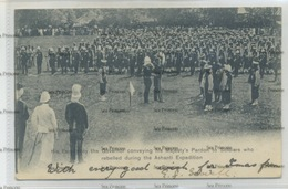 Ghana Gold Coast Pardoning Of Soldiers In Anglo Ashanti Wars Expedition 1900s Postcard Used Sierra Leone 1906 - Ghana - Gold Coast