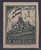 España 1940. Barcelona. Ed 26s. Variedad. Serie 8ª Letra M Con Numero. MNG. *. - Barcelona