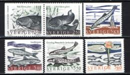 SVEZIA - 1991 - PESCI D'ACQUA DOLCE - FISHES - MNH - Sweden