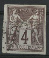 N°39 Cote 55 € COLONIES GENERALES 4ct Lilas-brun S/ Gris Type Sage. Oblitéré. TB Avec De Belles Marges - Sage
