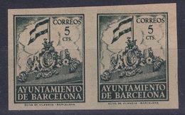 España 1940. Barcelona. Ed 26s Pareja. Variedad. Serie 8ª Letra Ñ Sin Numero. MNG. *. - Barcelona