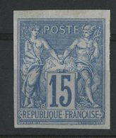 N°41 Cote 44 € COLONIES GENERALES 15ct Bleu Type Sage. Neuf Avec Charnière * (MH). TB - Sage