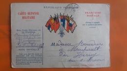 Carte Reponse Militaire - Republique Francaise - Franchise Postale - Altri