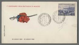 C4790 Annullo 1960 CENTENARIO BATTAGLIA DI MILAZZO MESSINA GARIBALDI - 6. 1946-.. Repubblica