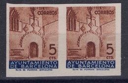 España 1936. Barcelona. Ed 13s Pareja. Variedad. Sin Numero. MNG. *. - Barcelona