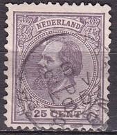 1872 Koning Willem III 25 Cent Grijslila NVPH 26 Ha - Used Stamps