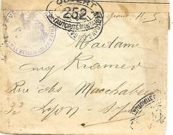 74-cachet Centre Médical Des Rapatriés Sur Lettre Avec Correspondance De Ville-la-Grand En 1916-controle Postal Militair - Marcophilie (Lettres)