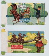 2 Illustrations Du Chocolat Revillon - 5X11cm - Revillon